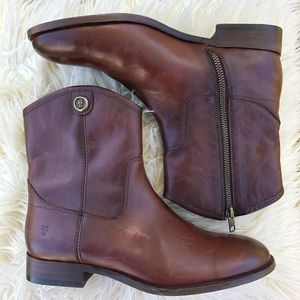 Frye Melissa Button Leather Bootie